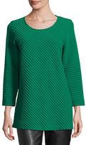 Caroline Rose Ottoman Knit 3/4-Sleeve Tunic