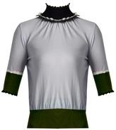 Roksanda Ifield scallop-edged roll-neck wool sweater