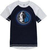 Outerstuff Youth Navy/White Dallas Mavericks Color Block Rash Guard T-Shirt