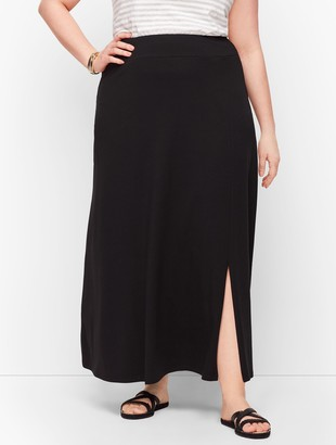 Talbots Jersey Faux Wrap Maxi Skirt