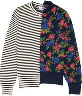 MSGM Jacquard-knit Sweater - Navy