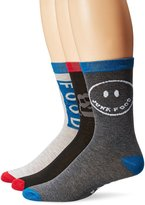 Junk Food Clothing Men's 3 Pack Crew Socks Peace from