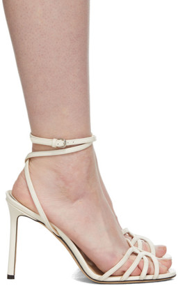 Jimmy Choo White Patent Mimi 100 Sandals