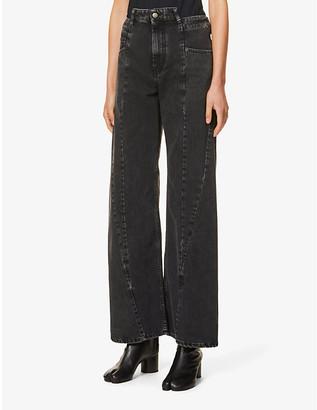 Maison Margiela Wide-leg high-rise jeans