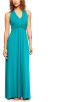 Express Ruched Halter Maxi Dress
