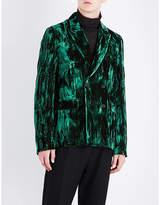 Ann Demeulemeester Double-breasted Regular-fit Crushed Velvet Jacket