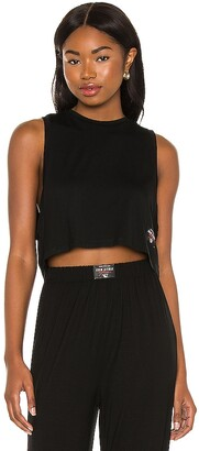 Adam Selman Sport Cropped Low Muscle Tee