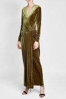 By Malene Birger Draped Velvet Gown