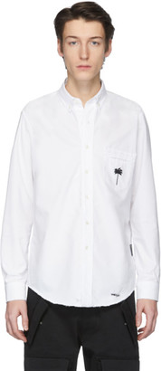 Palm Angels White Palm x Palm Ripped Oxford Shirt