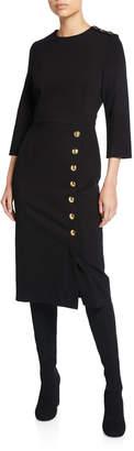 Escada Dhinia 3/4-Sleeve Jersey Dress