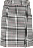 SET Check A-Line Skirt, White, DE 38