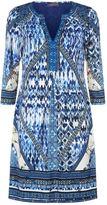 Hale Bob Embellished Printed V-Neck Dress