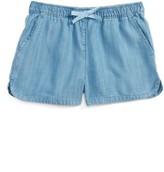 Vineyard Vines Girl's Chambray Pull-On Shorts
