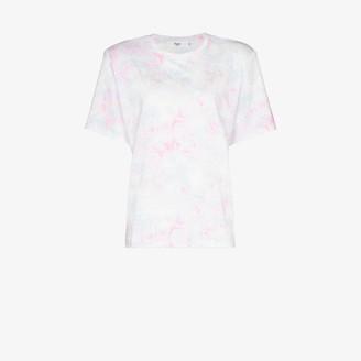 Frankie Shop jeanette tie-dye padded T-shirt