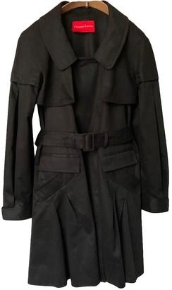 Christian Lacroix Black Cotton Coat for Women Vintage