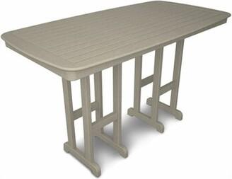 Polywood Nautical Plastic Bar Table Color: Sand