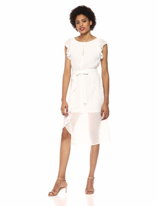 Ali & Jay Women's Isn't She Lovely Cap Sleeve Ruffle Blouson Midi Dress