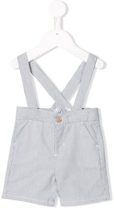 Knot Striped Suspender Shorts