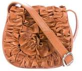 Loeffler Randall Mini Ruched Leather Crossbody Bag