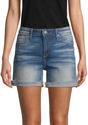 Driftwood Side-Stripe Denim Shorts