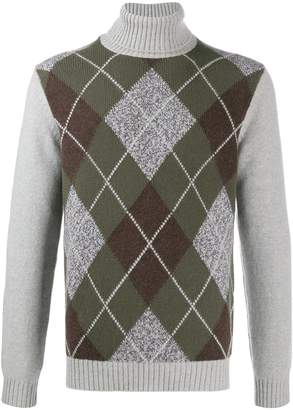 Borrelli argyle pattern knitted jumper