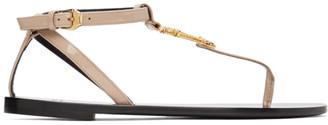 Versace Pink Virtus Flat Sandals