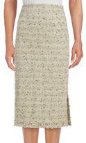Lafayette 148 New York Cotton-Blend Textured Skirt