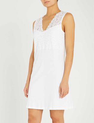 Hanro Moments cotton-jersey sleeveless nightdress