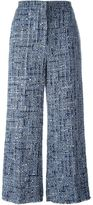 Sonia Rykiel wide-leg tweed trousers - women - Silk/Cotton/Linen/Flax/Polyamide - 38