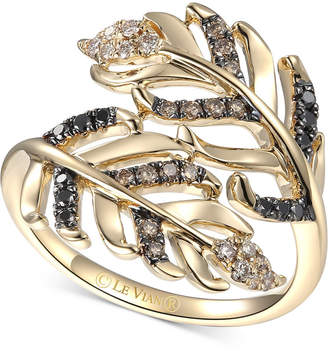 LeVian Le Vian Heavenly Feathers Diamond Bypass Ring (1/3 ct. t.w.) in 14k Gold