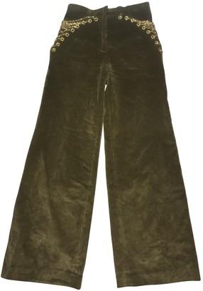 Y/Project Khaki Velvet Trousers for Women