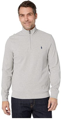 Polo Ralph Lauren Classic Mesh 1/4 Zip Shirt (Rosette Heather) Men's Clothing