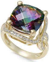 Macy's Mystic Quartz (6-1/6 ct. t.w.) and Diamond (3/8 ct. t.w.) Statement Ring in 14k Gold