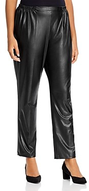Caroline Rose Plus Faux-Leather Skinny Pants