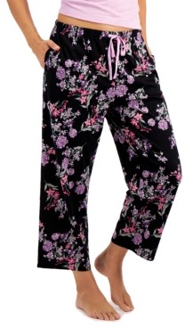 Charter Club Printed Knit Cotton Pajama Pants, Created for Macy's