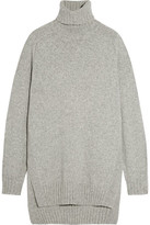 Isabel Marant Fergus Oversized Wool-blend Turtleneck Sweater - Light gray