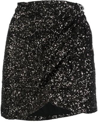 Amen Sequin-Embellished Wrap Skirt