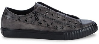 John Varvatos No-Lace Leather Sneakers