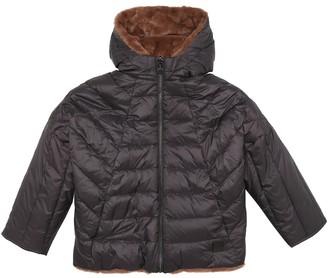 Bonpoint Pluie reversible faux-fur and down coat