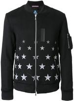 GUILD PRIME star print bomber jacket - men - Polyester/Wool/Acrylic/Cotton - 1