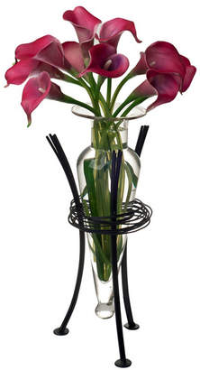 clear Danya B. Amphora Vase with Wire Stand