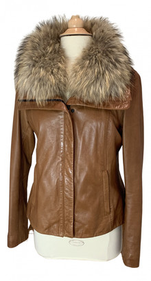 Soia & Kyo Brown Leather Leather Jacket for Women
