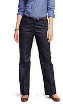 Classic Women's Regular Plain Straight Boot Pants-China Blue