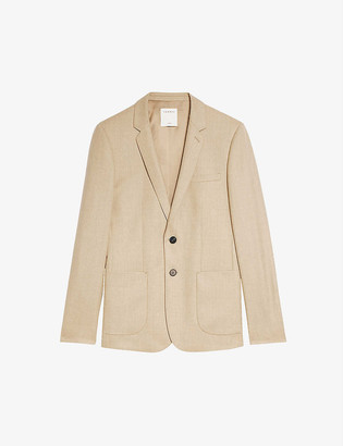 Sandro Single-breasted wool-flannel jacket