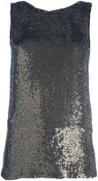P.A.R.O.S.H. metallic sequin tank - women - Viscose/PVC - XS