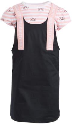 Hello Kitty Toddler Girls Striped Bow Dress