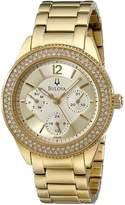 Bulova Women's 97N102 Multi-Function Crystal Bracelet Watch