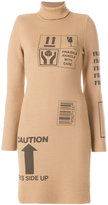 Moschino Handle With Care ribbed turtleneck dress