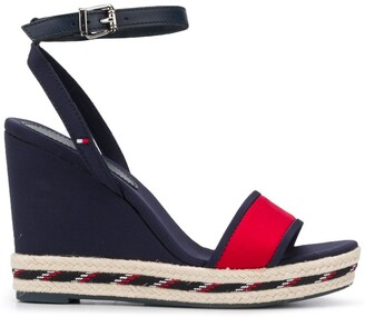 Tommy Hilfiger Striped Sole Wedge Sandals