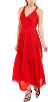 Milly Malorie Silk-Blend Midi Dress